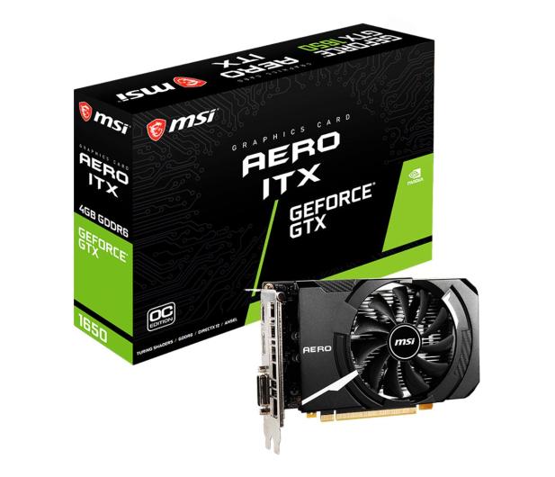 MSI GeForce GTX 1650 D6 AERO ITX OC 4GB GDDR6 - 661011 - zdjęcie