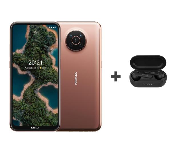 Nokia X20 Dual SIM 8/128 pustynny 5G+Nokia Lite Earbuds - 657669 - zdjęcie