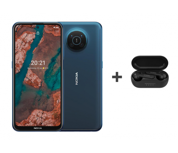 Nokia X20 Dual SIM 8/128 niebieski 5G+Nokia Lite Earbuds - 657670 - zdjęcie