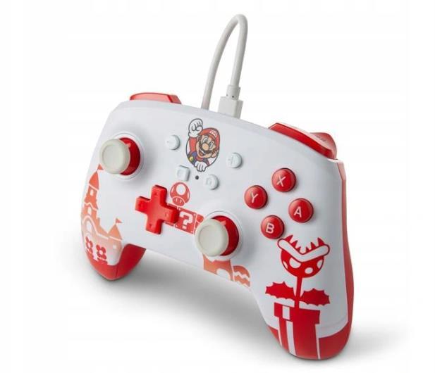 PowerA SWITCH Pad przewodowy Mario Red & White - 655750 - zdjęcie 4