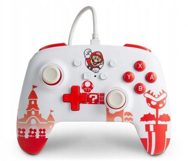 PowerA SWITCH Pad przewodowy Mario Red & White - 655750 - zdjęcie