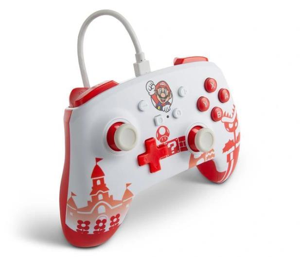 PowerA SWITCH Pad przewodowy Mario Red & White - 655750 - zdjęcie 3