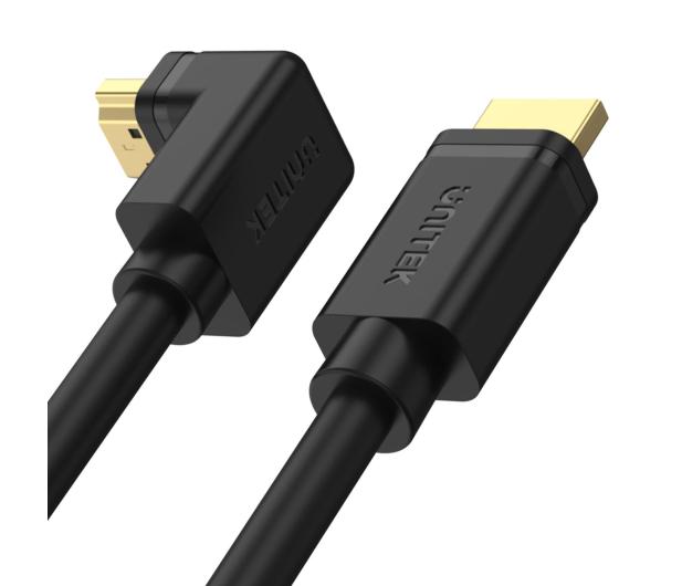 Unitek Kabel kątowy 90° HDMI 2.0 - HDMI (4k/60Hz) 2m - 662687 - zdjęcie 2