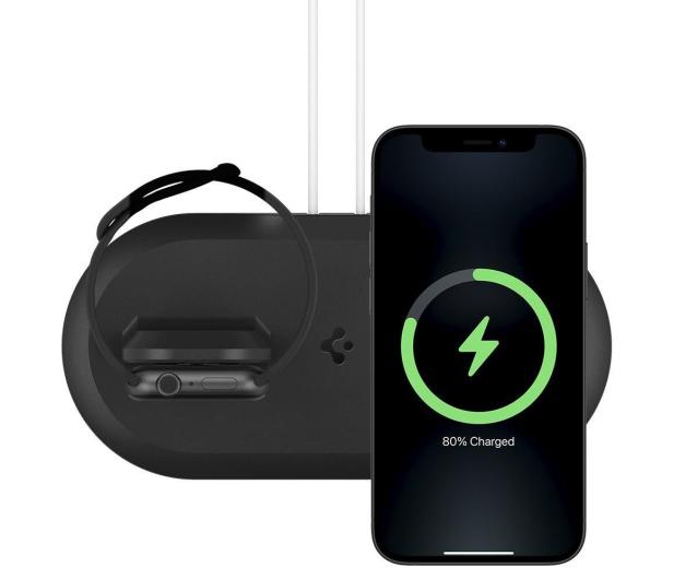 Spigen MagFit Duo MagSafe / Apple Watch Charger Stand - 662724 - zdjęcie 2