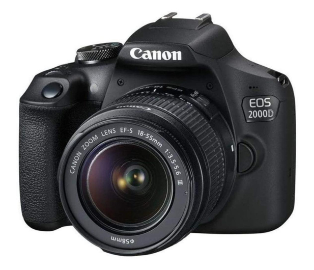 Canon EOS 2000D+ EF-S 18-55mm F4-5.6IS STM - 651698 - zdjęcie