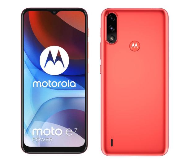 Motorola Moto E7i Power 2/32GB Coral Red - 657162 - zdjęcie
