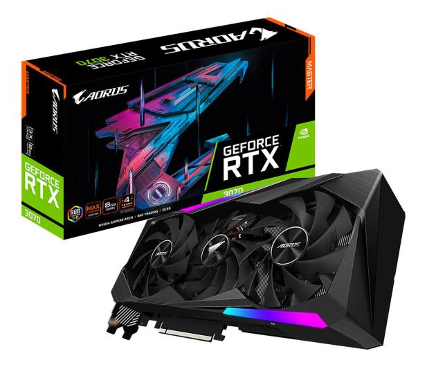 Gigabyte  GeForce RTX 3070 AORUS MASTER LHR 8GB GDDR6 - 670620 - zdjęcie