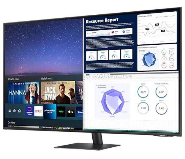 Samsung Smart Monitor S43AM700UUX 4K - 670617 - zdjęcie 3