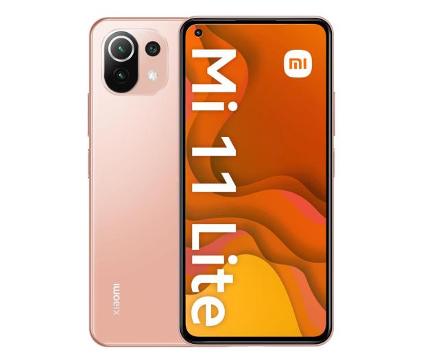 Xiaomi Mi 11 Lite 6/128GB Peach Pink  - 639911 - zdjęcie