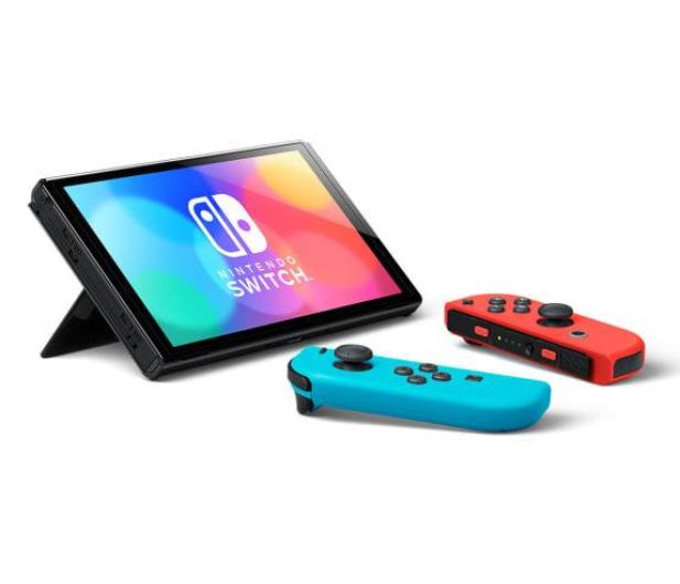 Nintendo Switch OLED - Czerwony / Niebieski - 667576 - zdjęcie 4