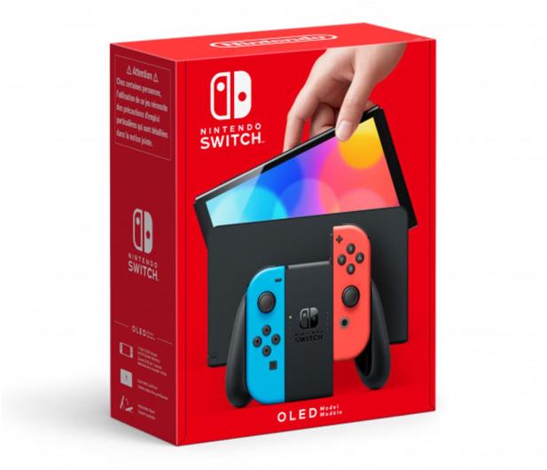 Nintendo Switch OLED - Czerwony / Niebieski - 667576 - zdjęcie