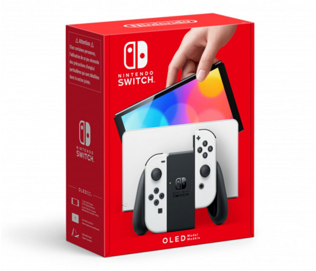 Nintendo Switch OLED - Biały - 667577 - zdjęcie