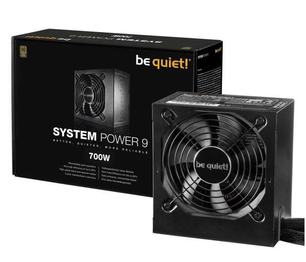 be quiet! System Power 9 700W 80 Plus Bronze - 423080 - zdjęcie 3