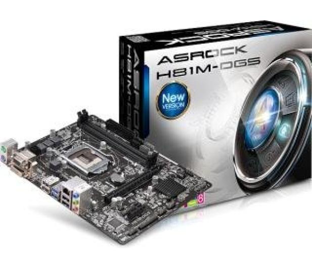 ASRock H81M-DGS (H81 PCI-E DDR3) - 156541 - zdjęcie
