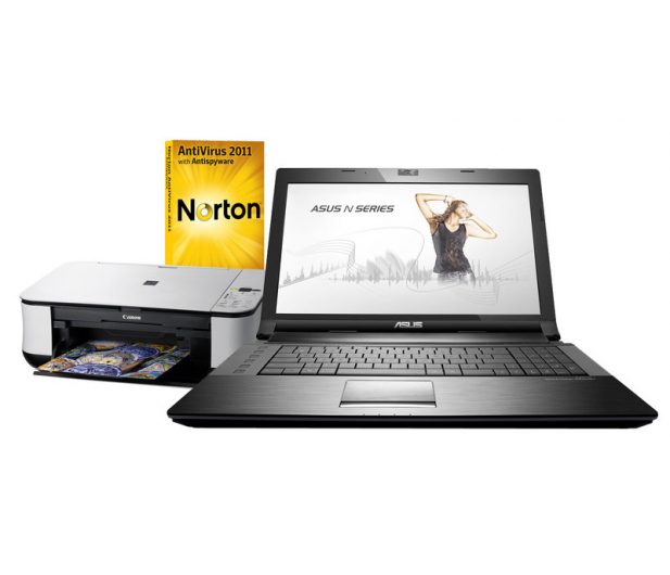 ASUS N73SV-TY037-4 i3-2310 4GB+Drukarka+Norton - 69460 - zdjęcie