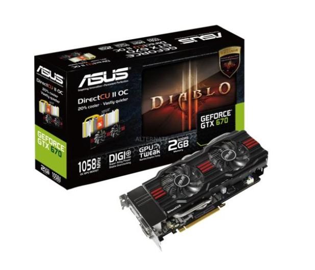 Asus Geforce Gtx670 2048mb 256bit Directcu Ii Oc Sklep Komputerowy X Kom Pl