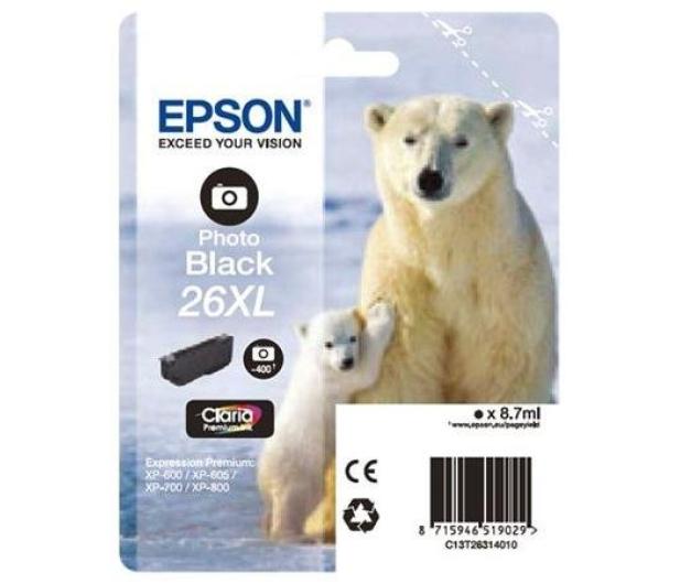 Epson T2631 XL photo black 8,7ml (C13T26314010) - 150464 - zdjęcie