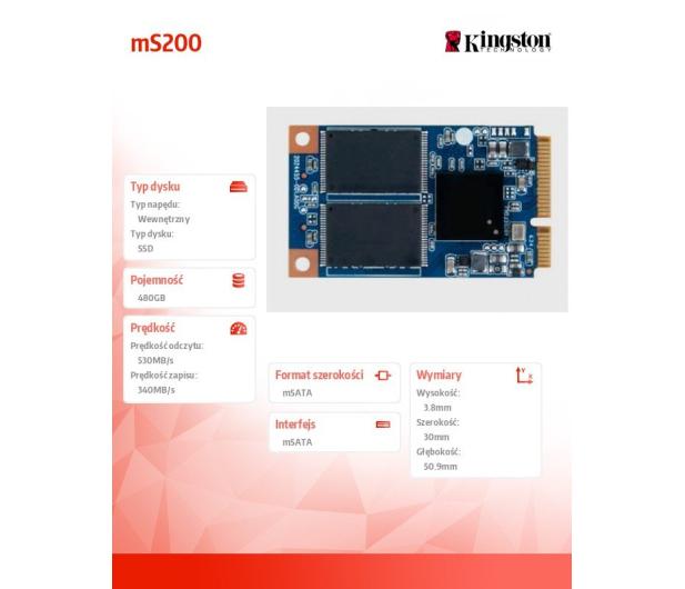 Kingston 480GB 1,8'' mSATA SSD SMS200S3 - 185190 - zdjęcie 3