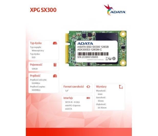 ADATA 128GB 1,8'' mSATA SSD XPG SX300 - 82285 - zdjęcie 5