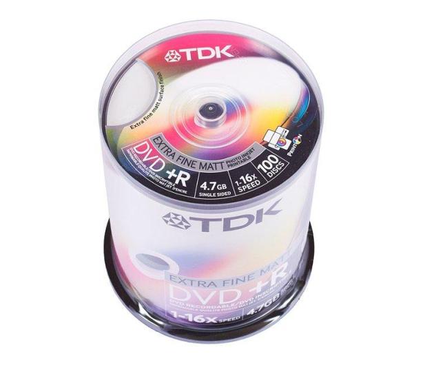 TDK 4.7GB 16x CAKE 100szt. (do nadruku)  - 30164 - zdjęcie