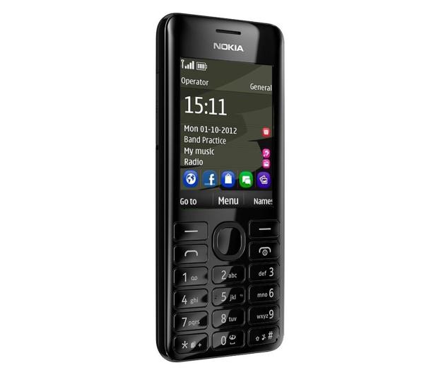 Nokia Asha 206 Dual SIM czarny - 160366 - zdjęcie 3