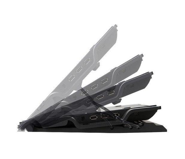 """Zalman Chłodząca ZM-NS2000 czarna (3x hub USB, do 17,3"""") - 165228 - zdjęcie 5"""