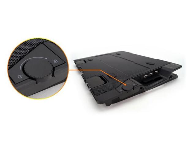 """Zalman Chłodząca ZM-NS2000 czarna (3x hub USB, do 17,3"""") - 165228 - zdjęcie 6"""