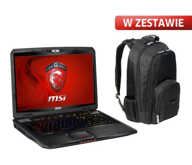MSI GT70 0ND i5-3210M/8GB/500/Win8 GTX675 +plecak - 125475 - zdjęcie