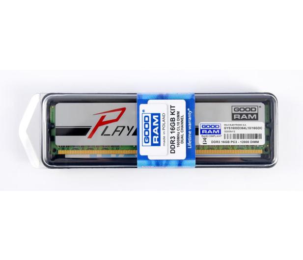 GOODRAM 16GB 1600MHz Play CL10 Srebrne (2x8192) - 156186 - zdjęcie 2