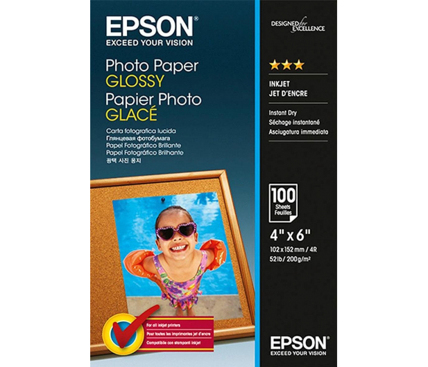 """Epson Photo Glossy Paper 10x15 cm (4x6"""") (100 ark.)  - 207253 - zdjęcie"""