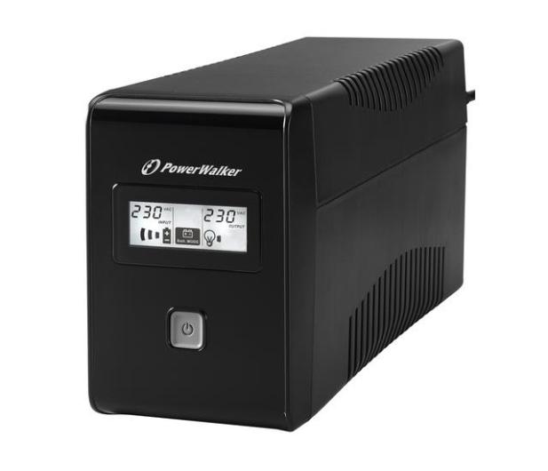 Power Walker VI 850 LCD (850VA/480W, 2xPL, USB, LCD, AVR) - 173991 - zdjęcie