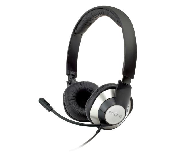 Creative HS-720 czarno-srebrne z mikrofonem - 64455 - zdjęcie 3