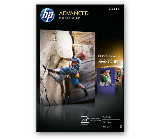 HP Papier fotograficzny (10x15, 250g, błysk) 60szt. - 31781 - zdjęcie