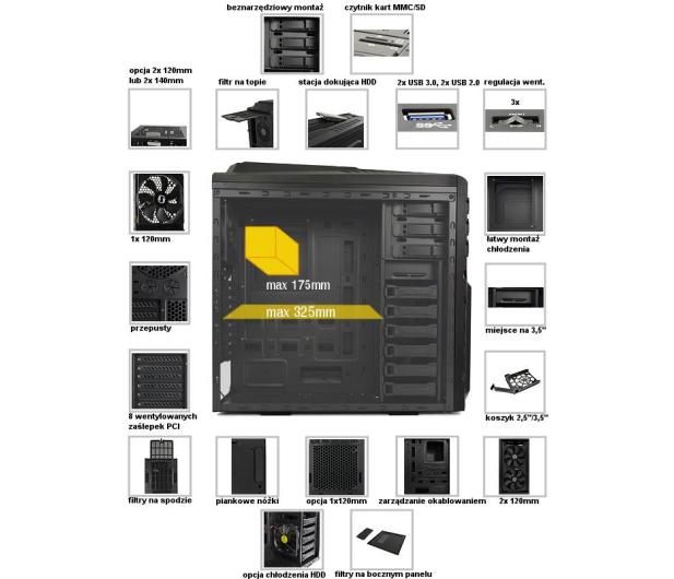 SilentiumPC Gladius X60 Pure Black - 177175 - zdjęcie 5
