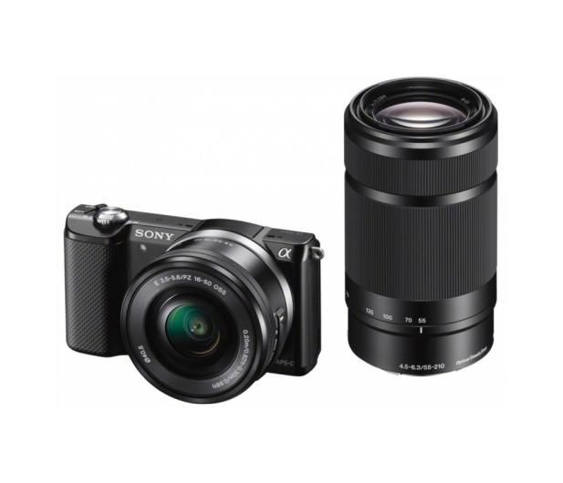 Sony Alpha a5000 + 16-50 + 55-210 (ILCE-5000Y) czarny - 177470 - zdjęcie