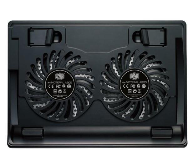 "Cooler Master Chłodząca NotePal A200 (do 16"", aluminium, czarna) - 176966 - zdjęcie 3"