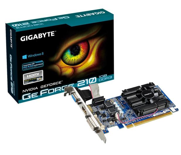 Gigabyte GeForce GT210 1024MB 64bit Low Profile - 69374 - zdjęcie