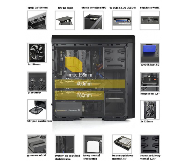 SilentiumPC Gladius M30 Pure Black - USB 3.0  - 201588 - zdjęcie 7