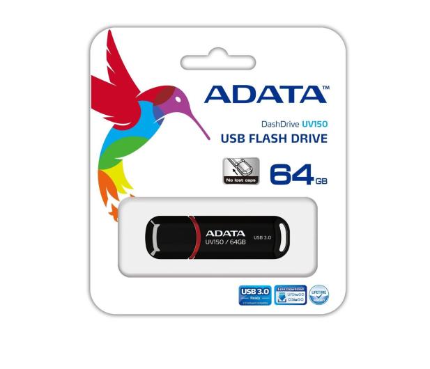 ADATA 64GB DashDrive UV150 czarny (USB 3.1) - 262335 - zdjęcie 3