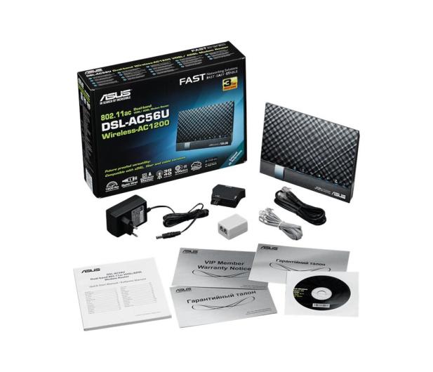 ASUS DSL-AC56U (1200Mb/s a/b/g/n/ac Aneks A/B, 2xUSB) - 265485 - zdjęcie 5