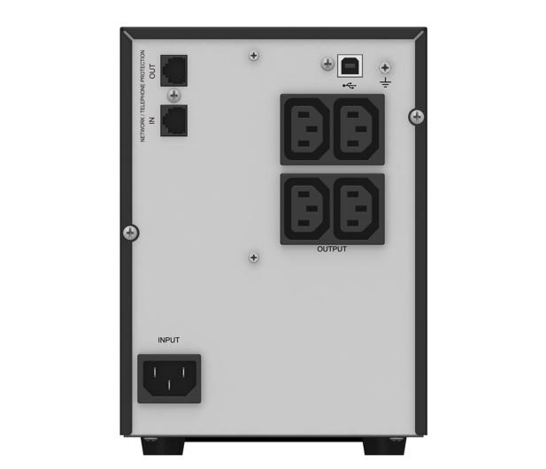 Power Walker VI 750 T/HID (750VA/500W, 4xIEC, USB, LCD, AVR) - 231455 - zdjęcie 4