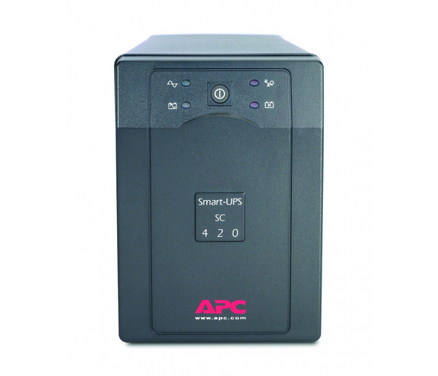 APC Smart-UPS SC (420VA/260W, 4xIEC, RJ-45, AVR) - 260384 - zdjęcie 2