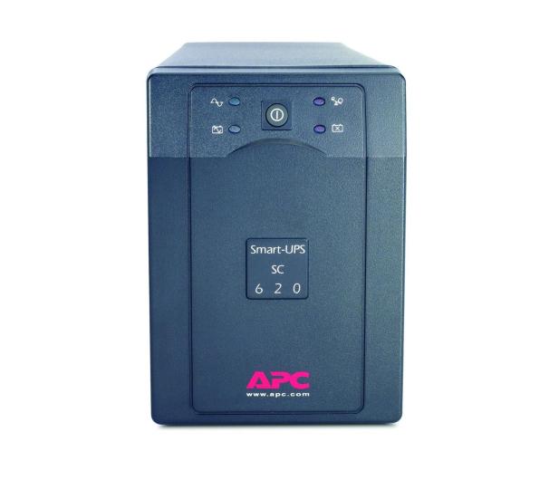 APC Smart-UPS SC (620VA/390W, 4xIEC, RJ-45, AVR) - 260387 - zdjęcie 2