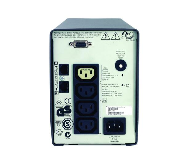 APC Smart-UPS SC (620VA/390W, 4xIEC, RJ-45, AVR) - 260387 - zdjęcie 4