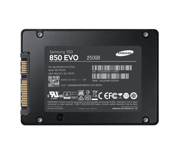 Samsung 250GB 2,5'' SATA SSD Seria 850 EVO - 216483 - zdjęcie 2