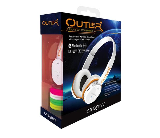Creative Outlier białe z mikrofonem - 278151 - zdjęcie 4