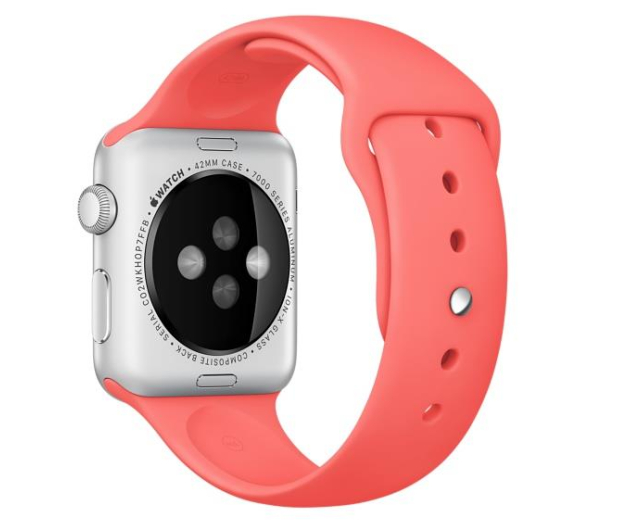 Apple Silikonowy do Apple Watch 42 mm różowy - 273668 - zdjęcie