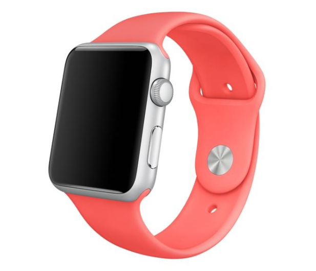 Apple Silikonowy do Apple Watch 42 mm różowy - 273668 - zdjęcie 2