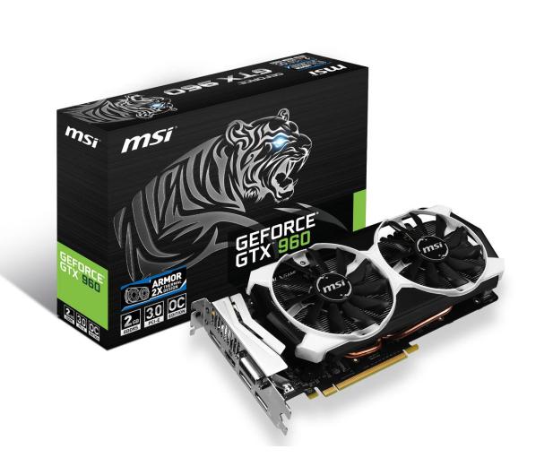 MSI GeForce GTX960 2048MB 128bit OC (Armor 2X) - 221841 - zdjęcie