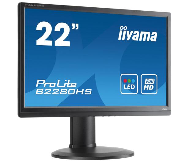 iiyama B2280HS czarny - 225369 - zdjęcie 2